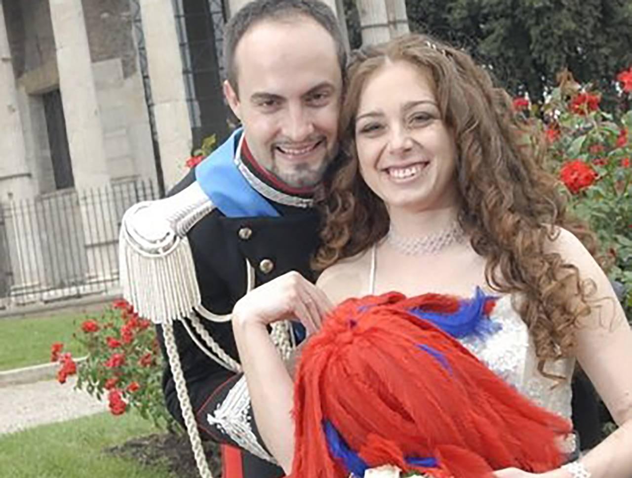 Peter e Filomena il giorno del loro matrimonio - Foto Facebook