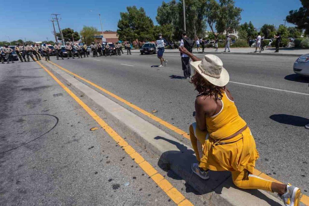 proteste polizia California