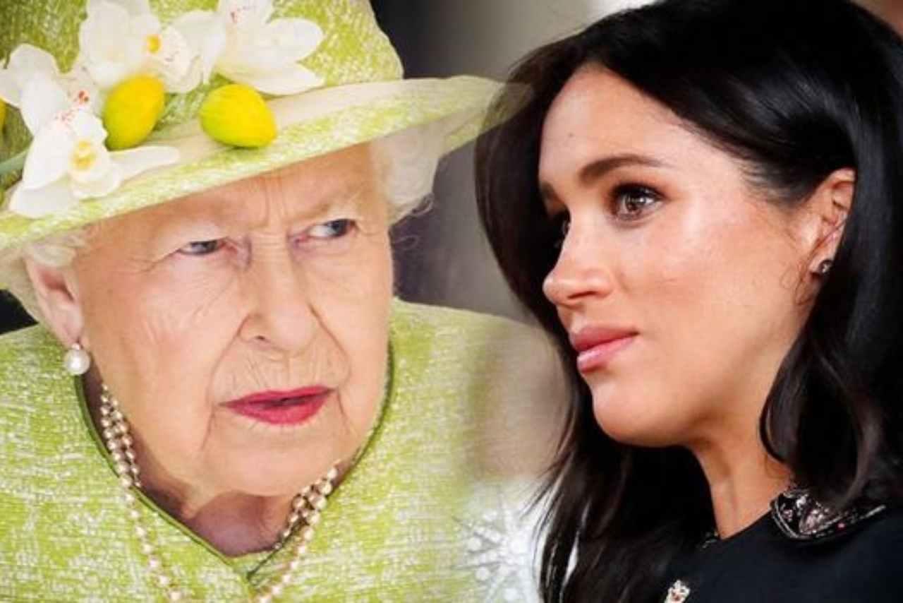 Regina Elisabetta choc Meghan