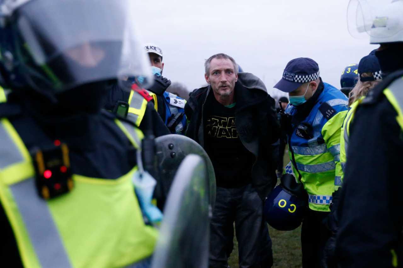 Covid protesta Londra lockdown