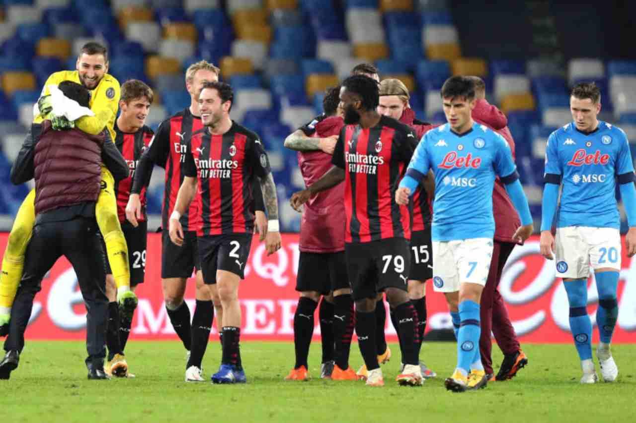 Milan Napoli streaming gratis