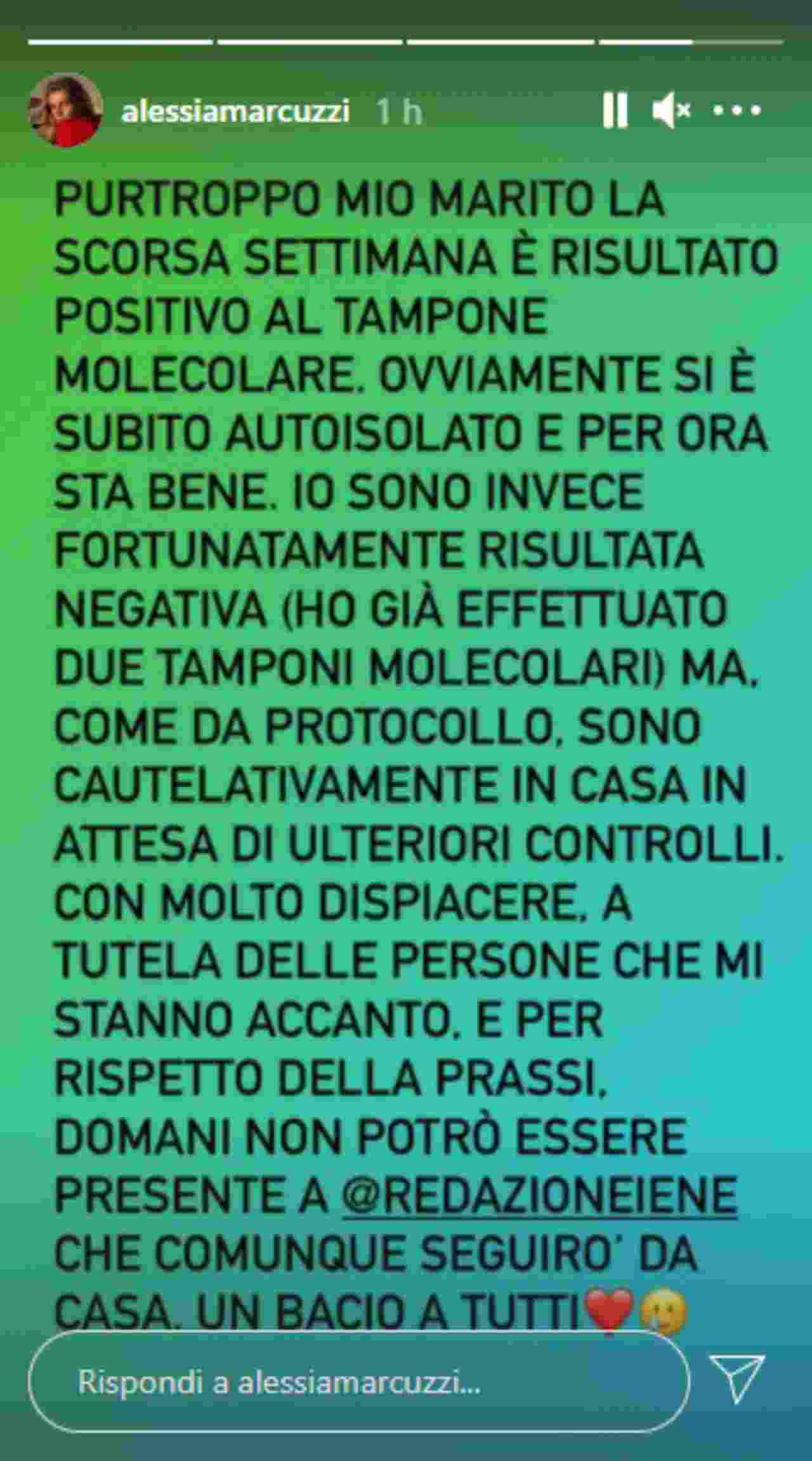 Alessia Marcuzzi, clamoroso forfait