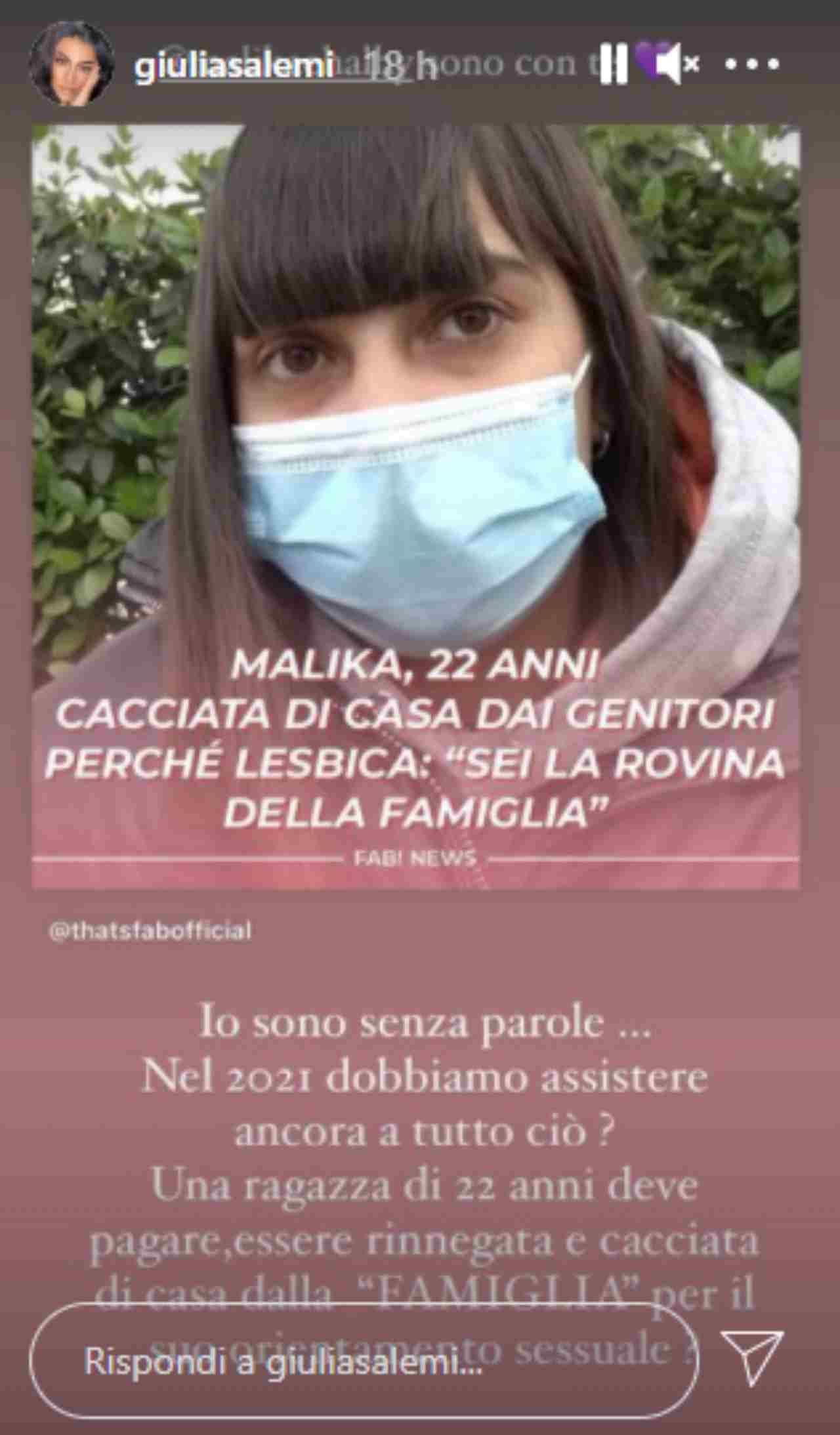 Giulia Salemi incalza sui social