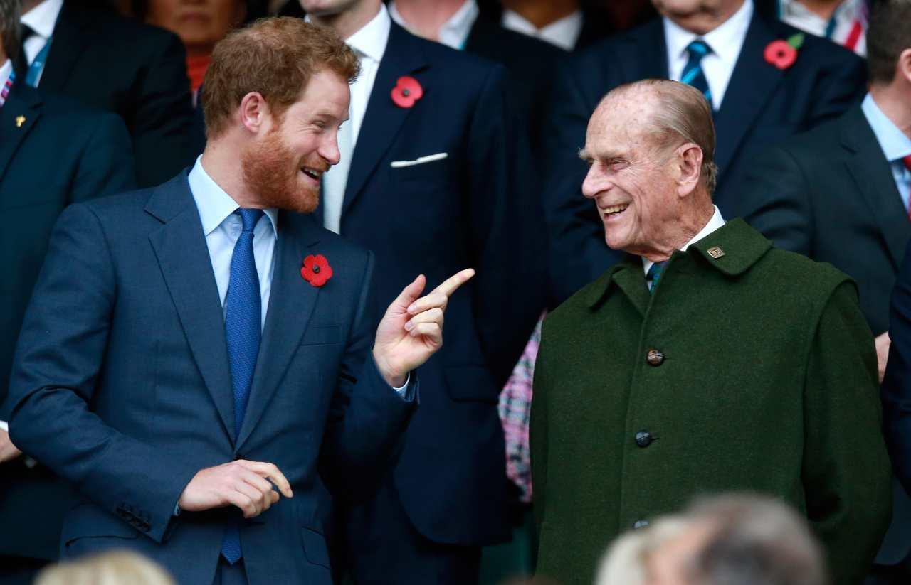 Harry e il principe Filippo
