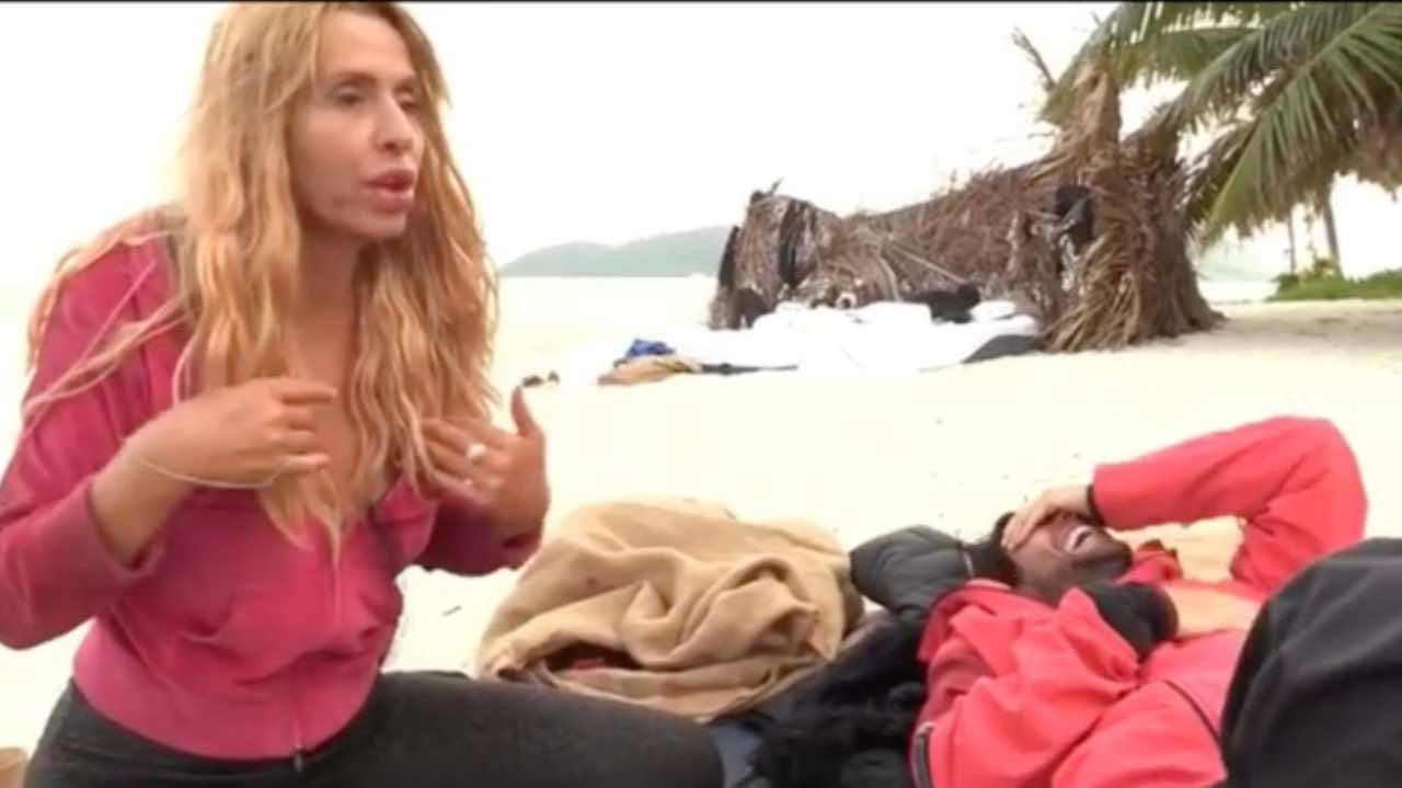 Valeria Marini e Gianmarco Onestini a Supervivientes