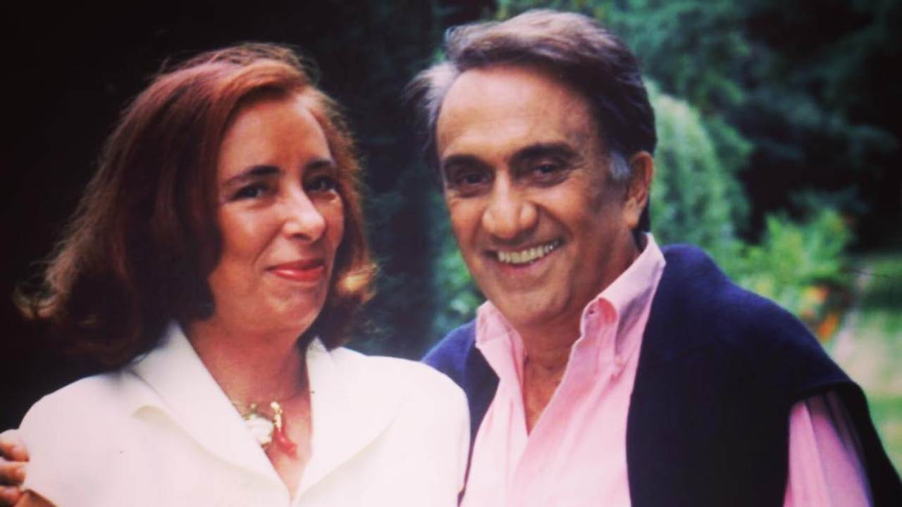 Emilio Fede e la moglie e senatrice Diana De Feo (foto Instagram).