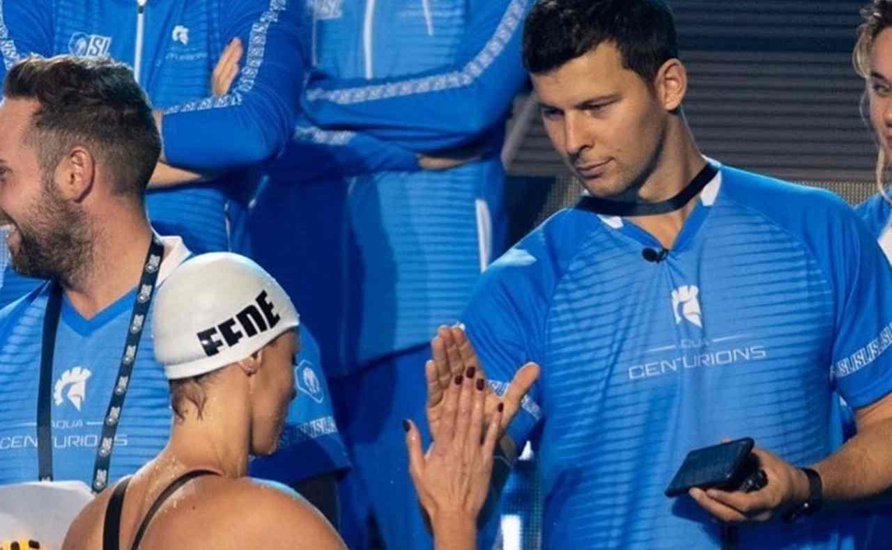 La nuotatrice Federica Pellegrini ed il suo allenatore Matteo Giunta (foto Instagram).