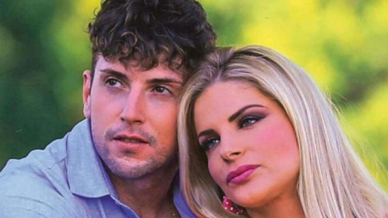 La showgirl Francesca Cipriani con il fidanzato Alessandro Rossi (foto © Chi Magazine).