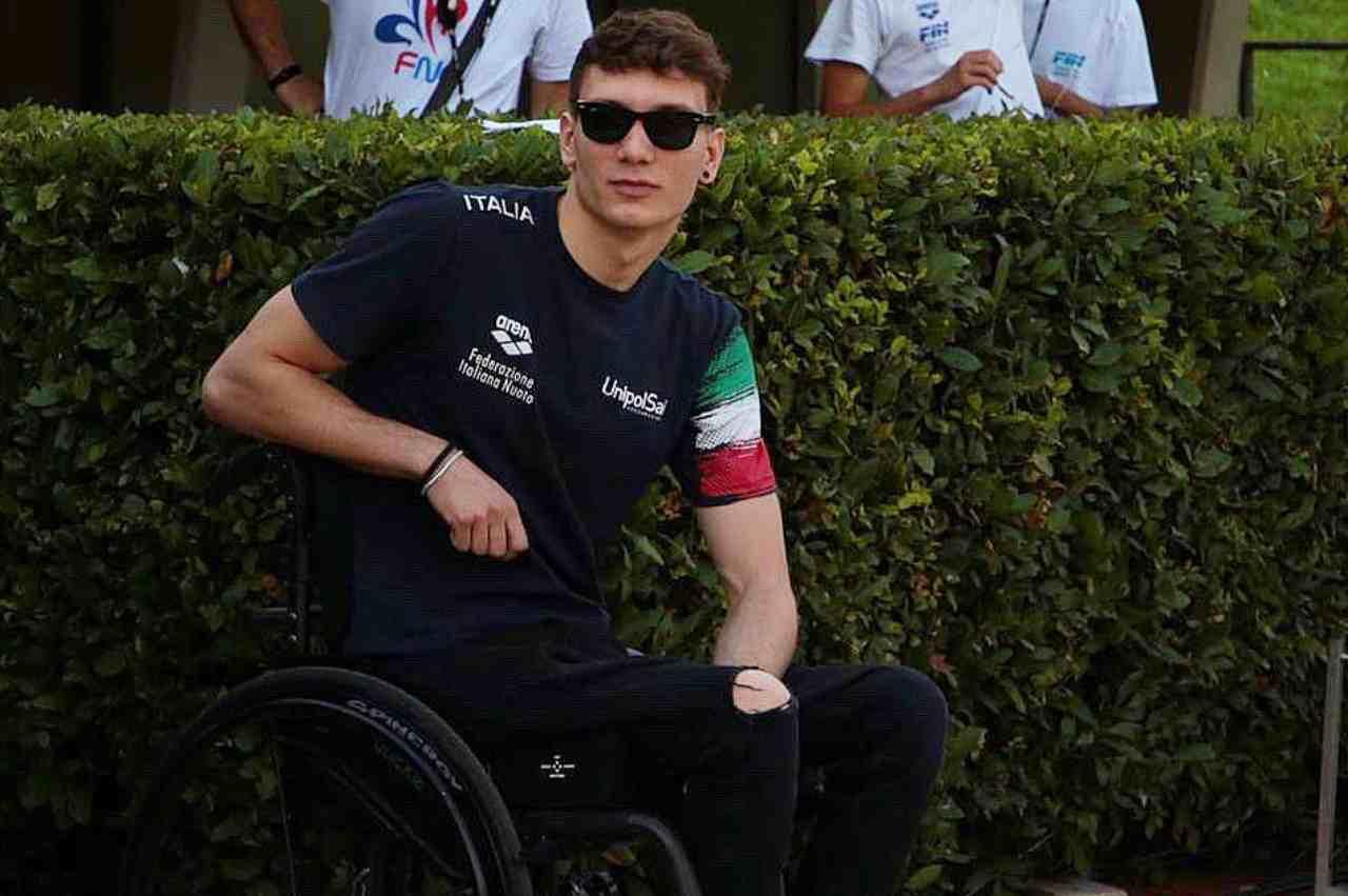 Il nuotatore Manuel Bortuzzo, probabile concorrente del prossimo GF Vip 6 (foto Instagram).