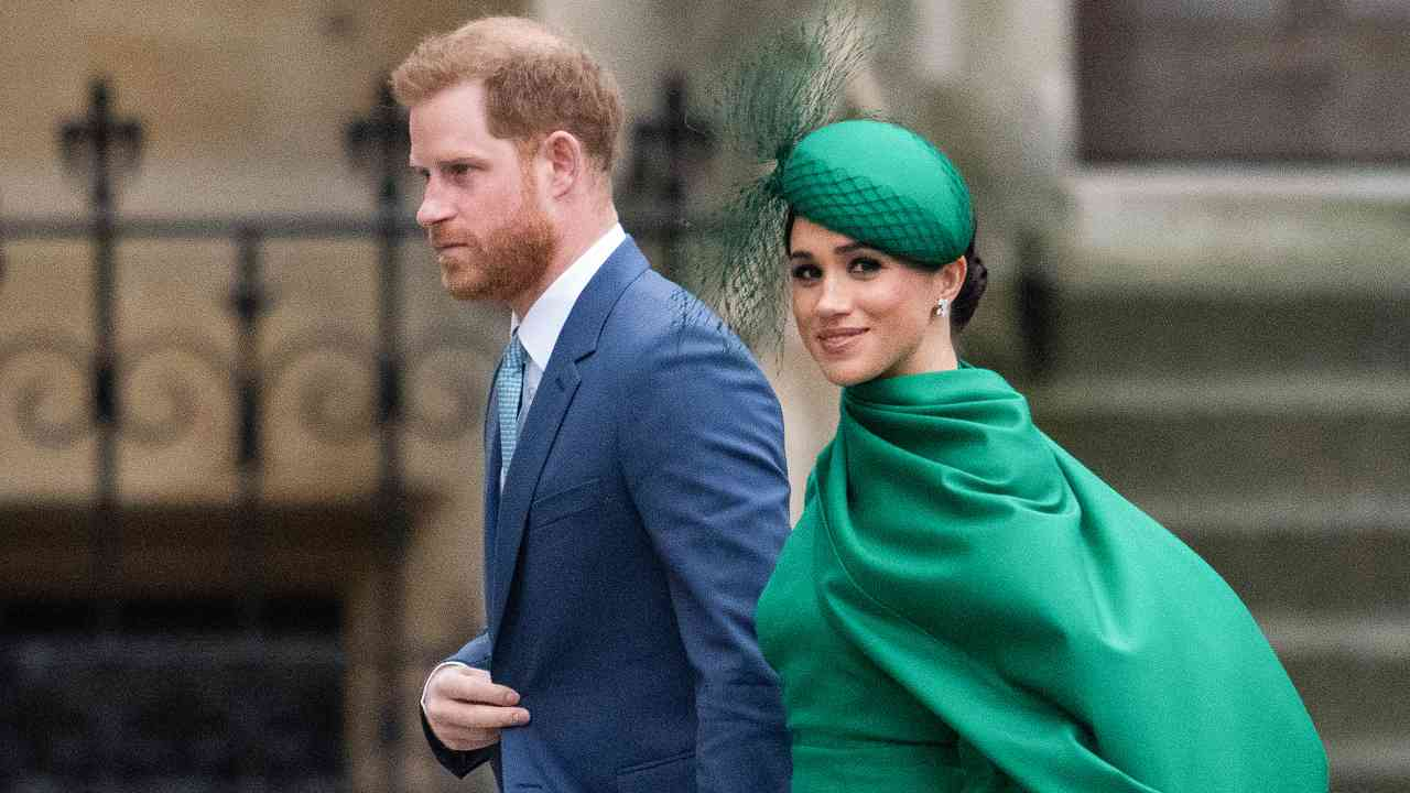 I Duchi di Sussex: Harry Windsor e Meghan Markle, marzo 2020 (foto di Gareth Cattermole/Getty Images)).