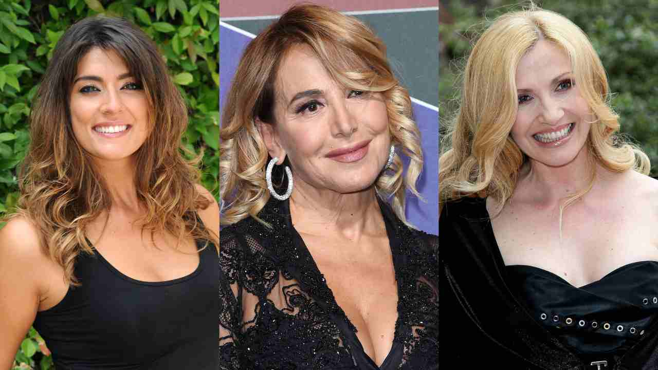 Palinsesto Mediaset: le conduttrici Elisa Isoardi, Barbara D'Urso e Lorella Cuccarini (foto © Getty Images).