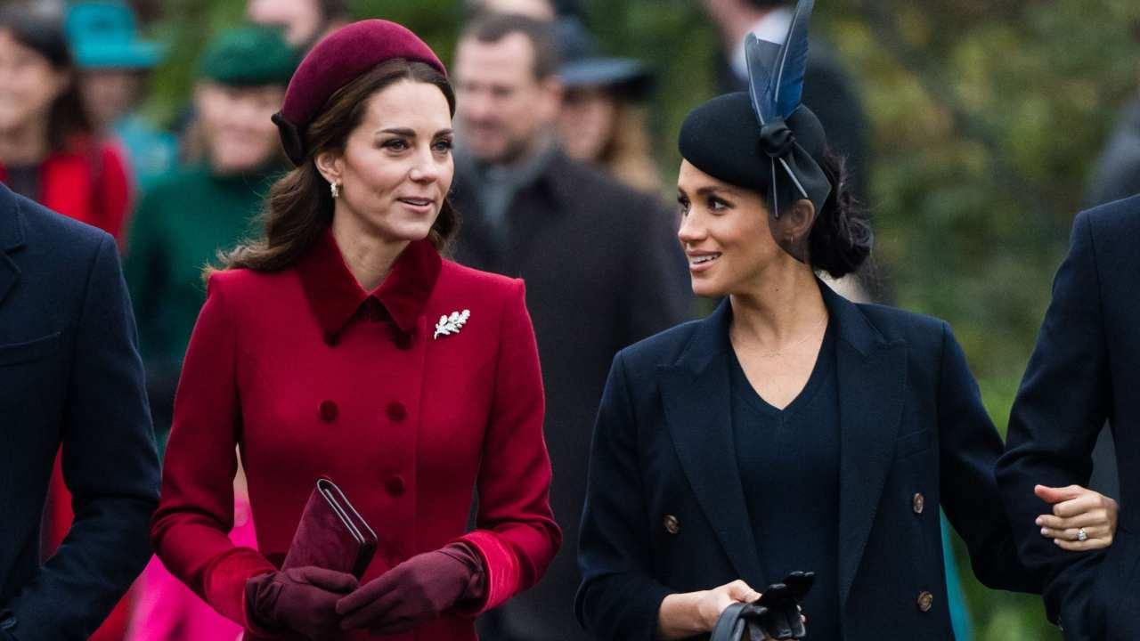 La Duchessa di Cambridge Kate Middelton e la Duchessa di Sussex Meghan Markle (foto © Getty Images).