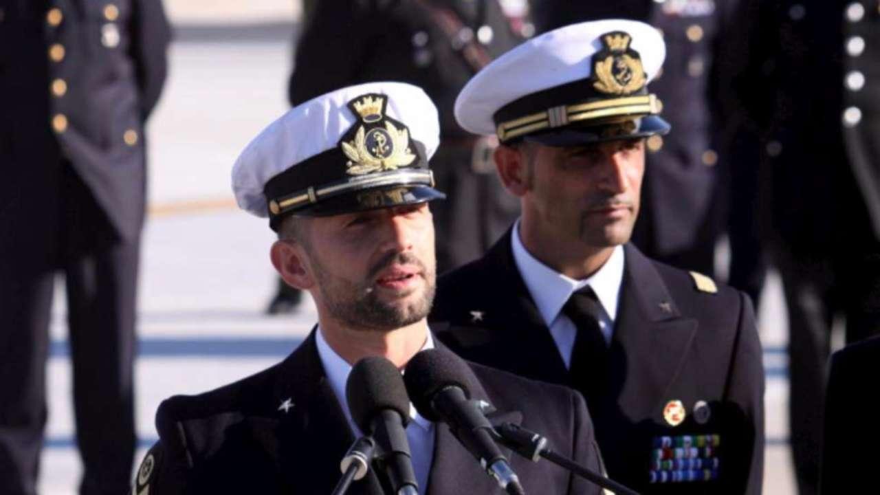 I due fucilieri della Marina (marò) Massimiliano Latorre e Salvatore Girone (foto © Ansa).