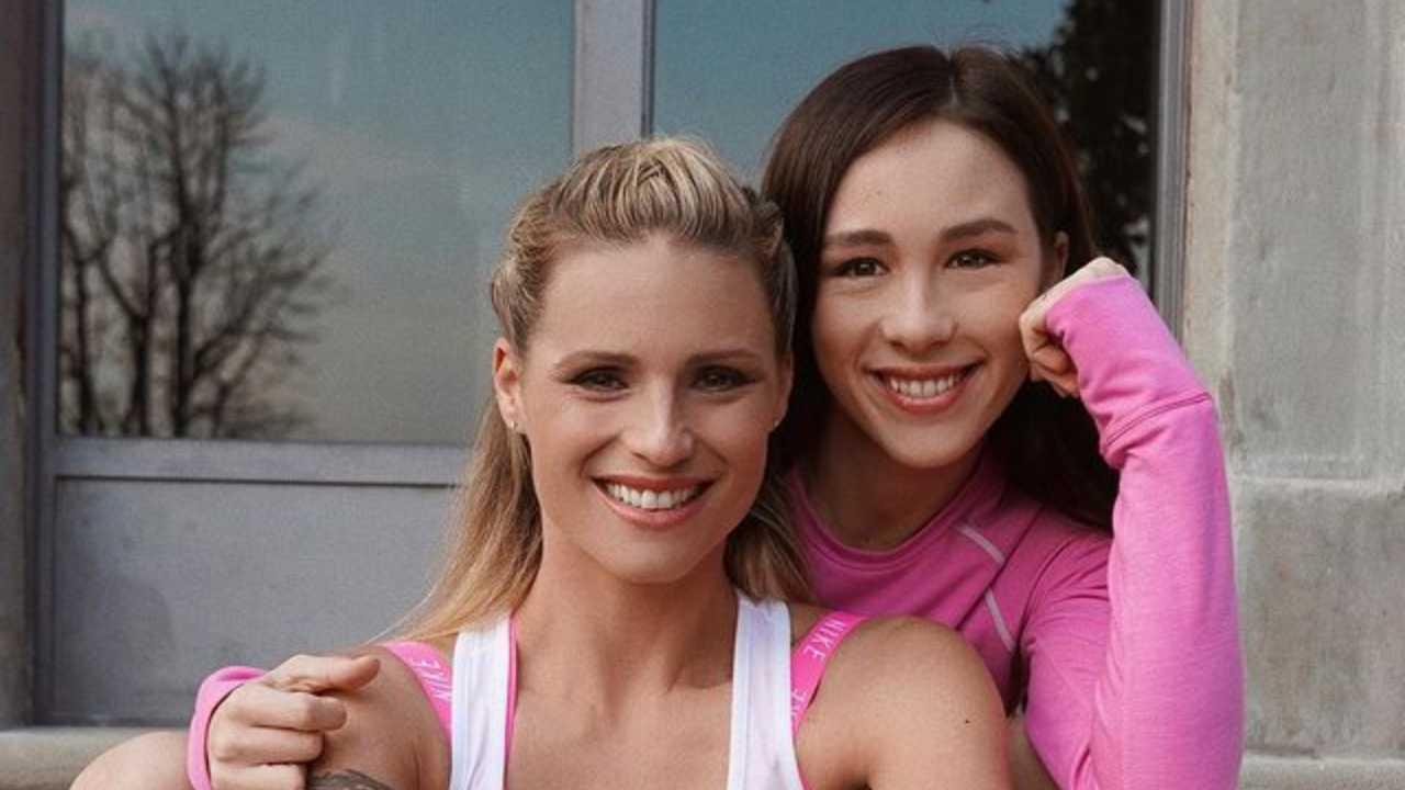 Michelle Huniziker e la figlia Aurora Ramazzotti (foto Instagram).