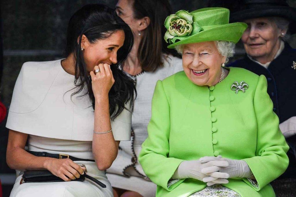 Regina Elisabetta e Meghan