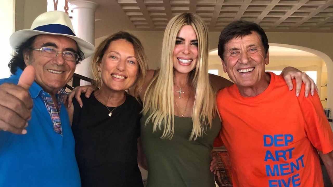 Al Bano, Loredana Lecciso, Morandi e la moglie a Cellino San Marco (foto Instagram).