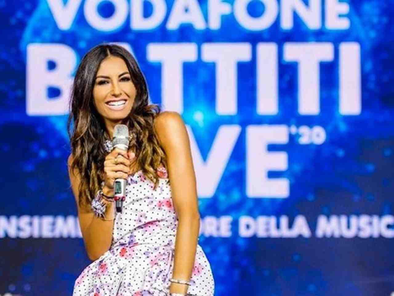 La conduttrice di Battiti Live, Elisabetta Gregoraci (foto Rai).