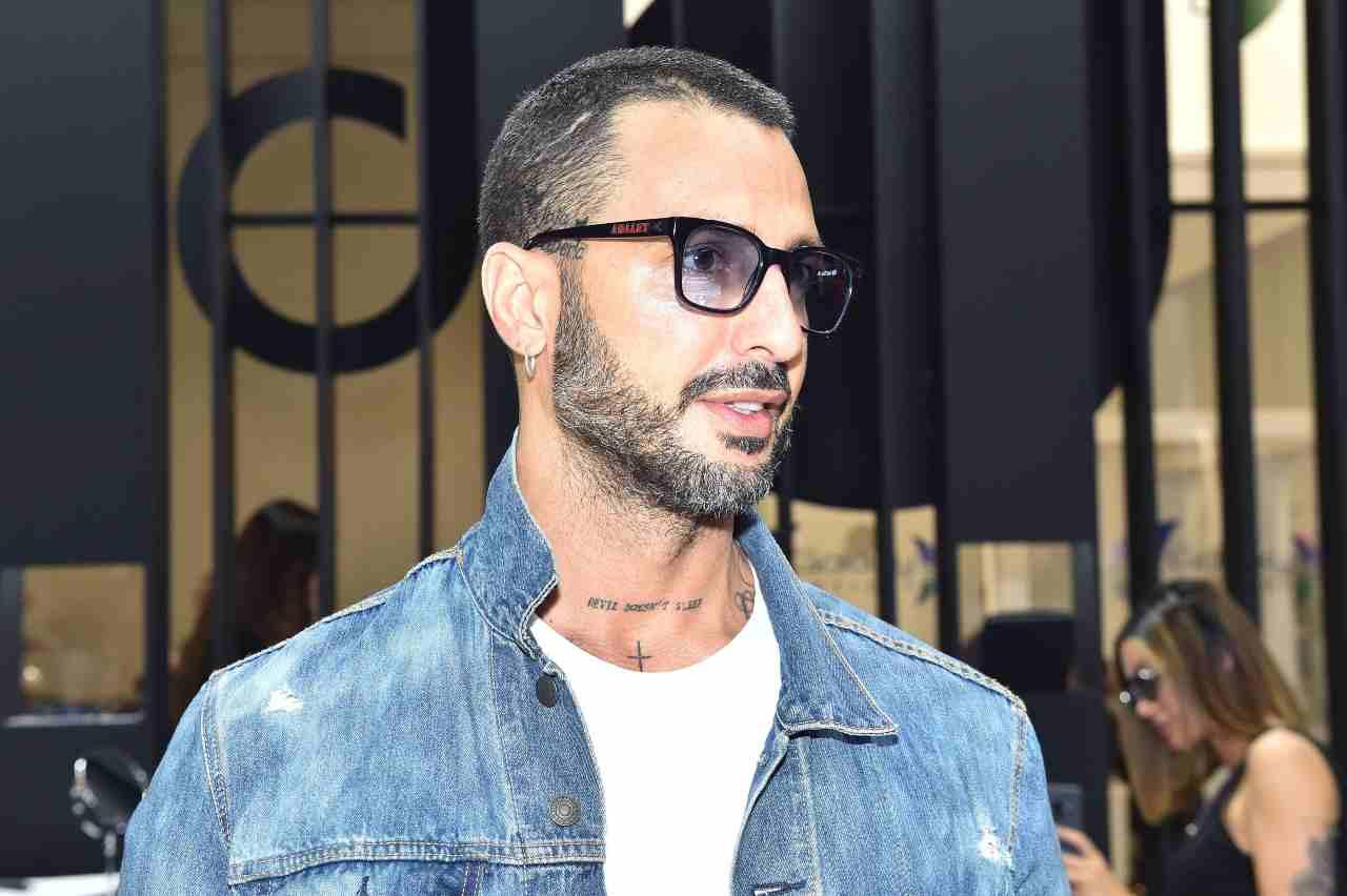 MIDO 2019, Fabrizio Corona arriva all'evento (foto di Tullio M. Puglia/Getty Images for MIDO).