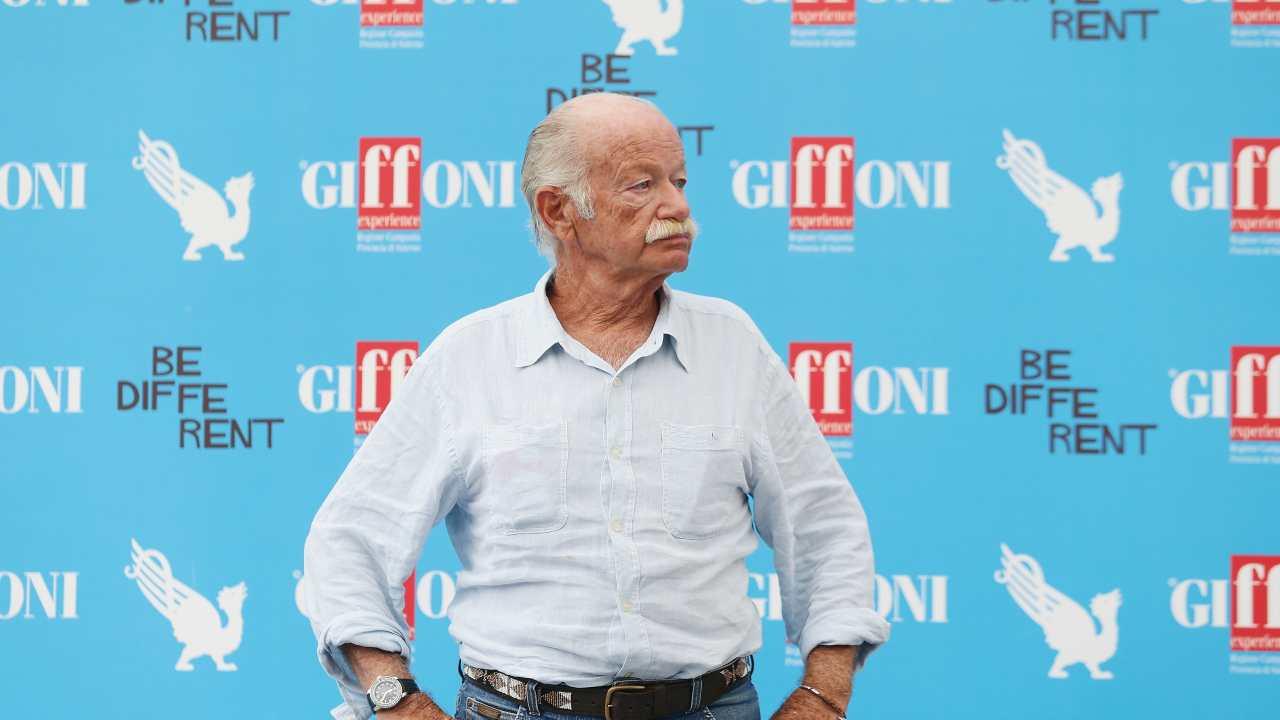 Il cantautore Gino Paoli al Giffoni Film Festival, anno 2014 (foto di Vittorio Zunino Celotto/Getty Images for Giffoni Film Festival).