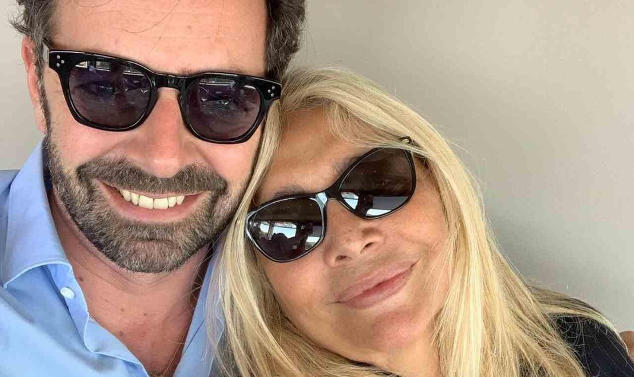 La presentatrice Mara Venier con Alberto Matano (foto Instagram).