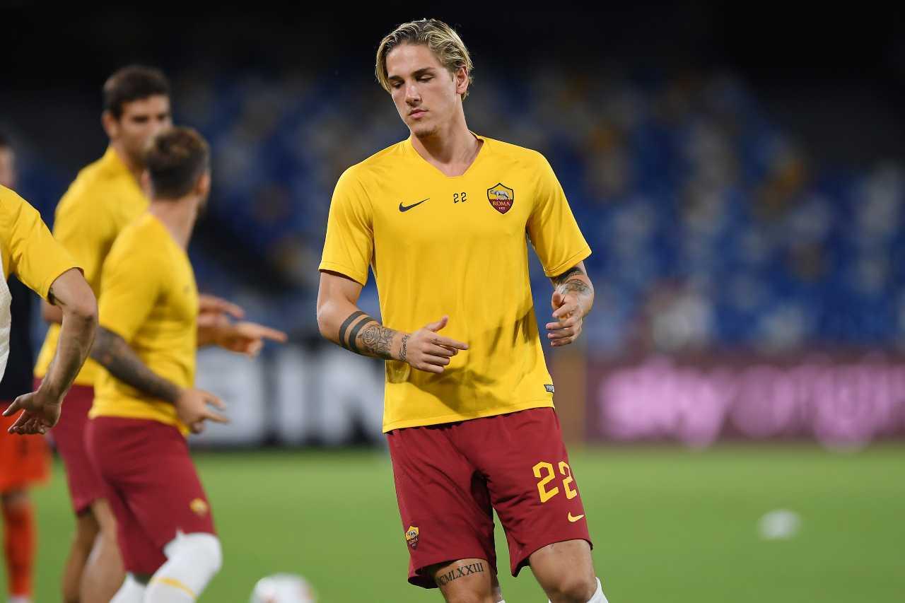 Il calciatore della Roma Niccolò Zaniolo (foto di Francesco Pecoraro/Getty Images).