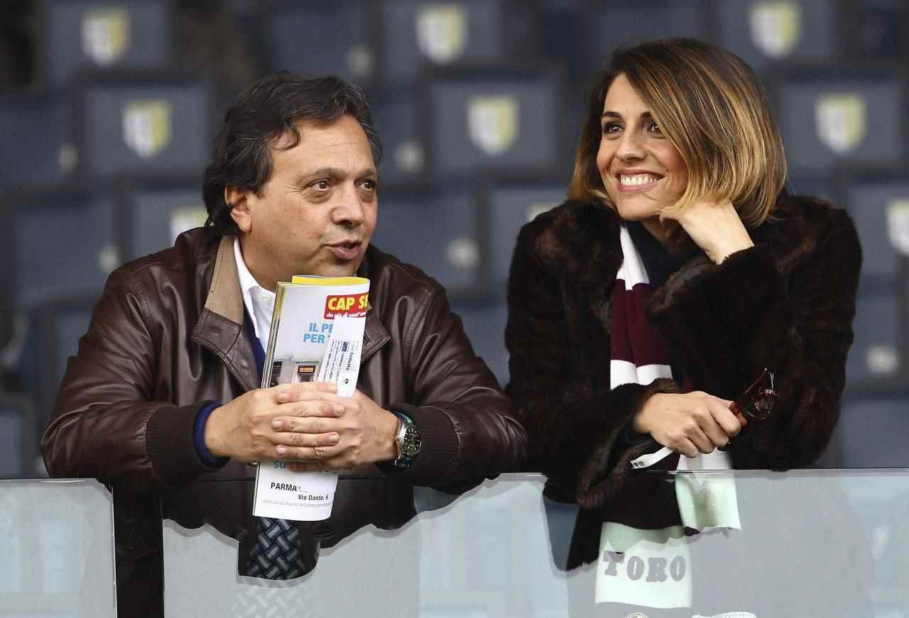 Il giornalista Piero Chimabretti con l'ex moglie Federica Laviosa (foto Getty Images).