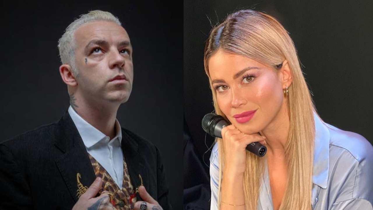 La conduttrice di Dazn, Diletta Leotta, ed il rapper Salmo (foto Instagram).