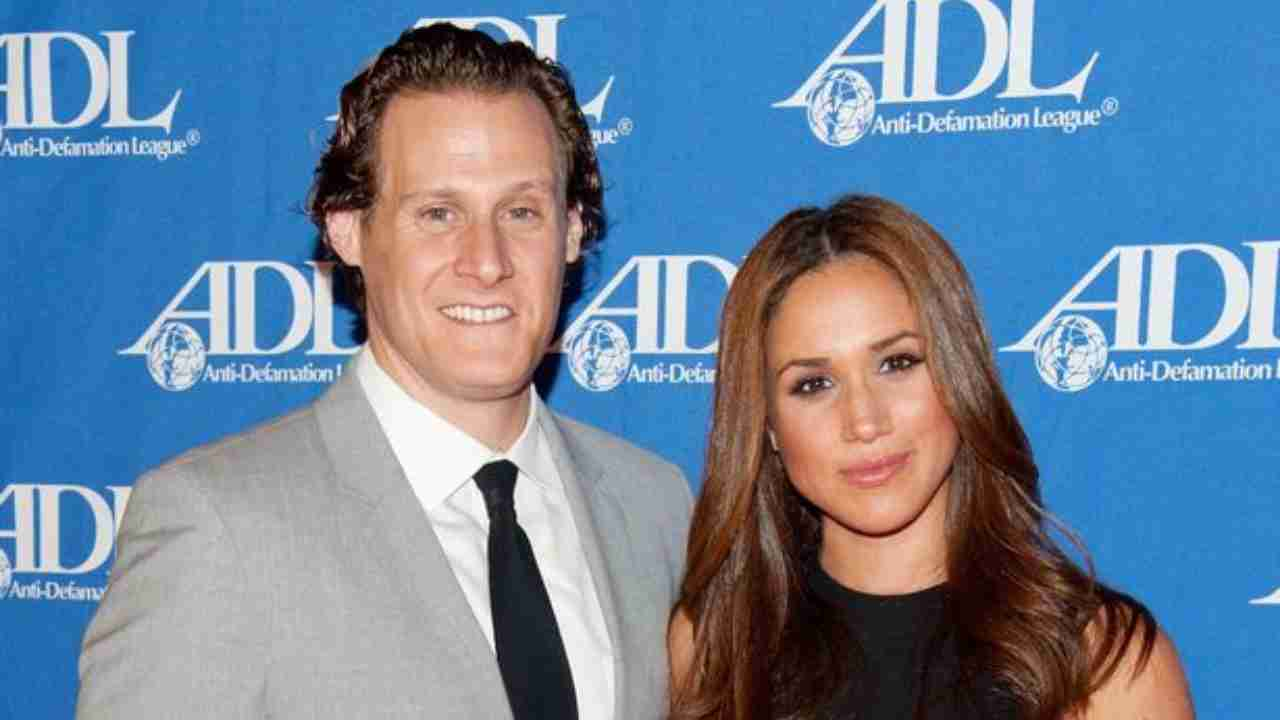 La duchessa di Sussex Meghan Markle con l'ex marito Trevor Engleson (foto Getty - Contributor).