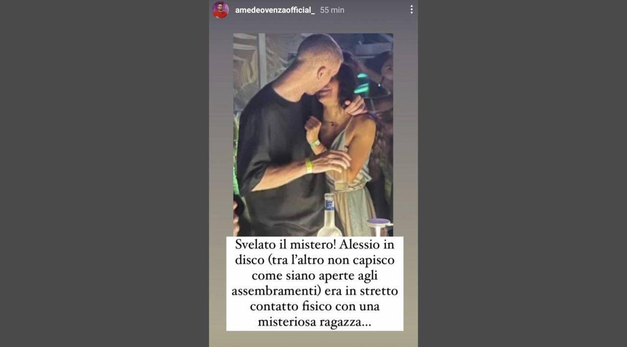 Uomini e Donne, la foto del presunto tradimento di Alessio Ceniccola a Samantha Curcio (Storia Instagram).
