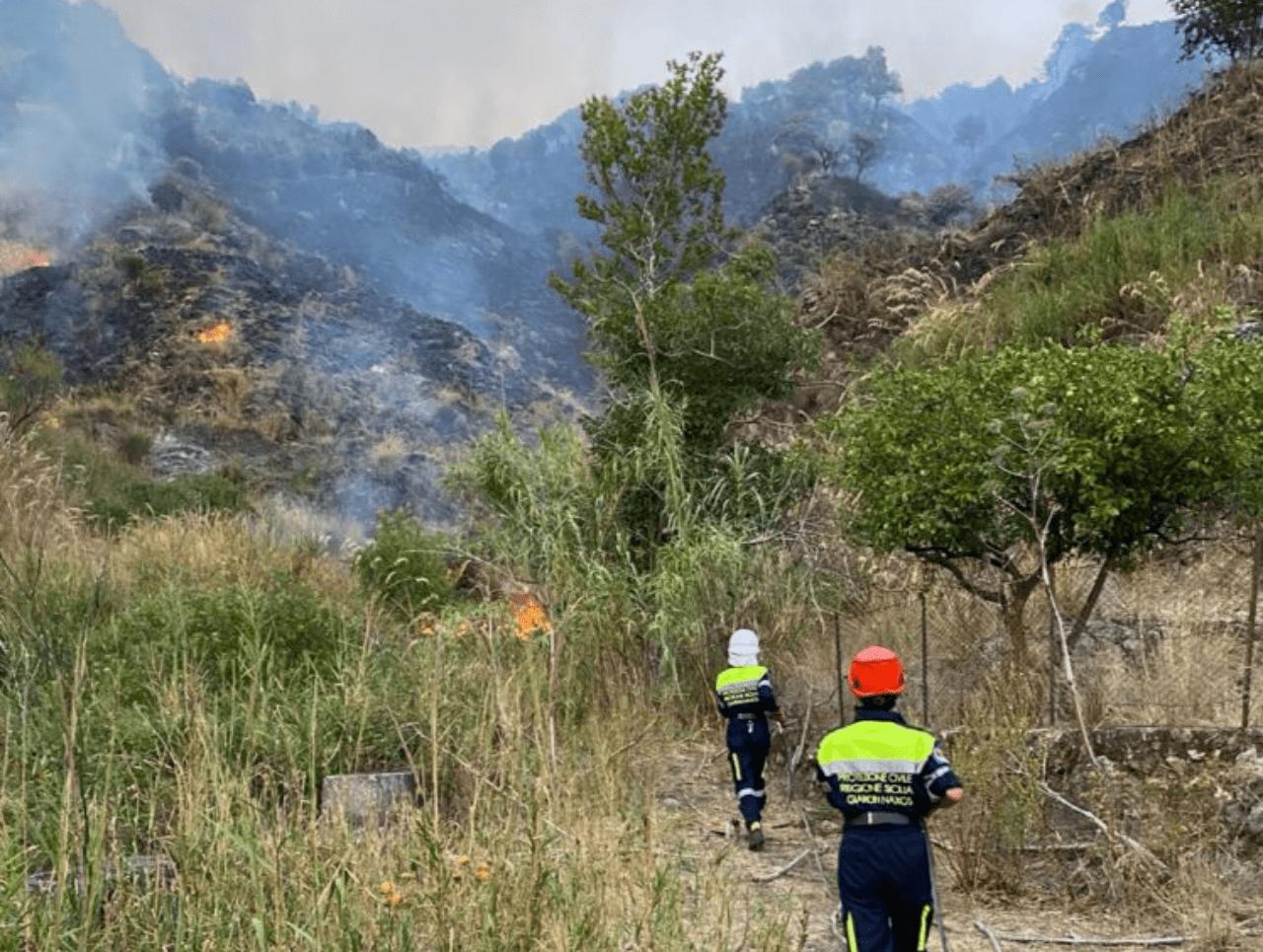 Incendi Calabria - Foto Protezione Civile