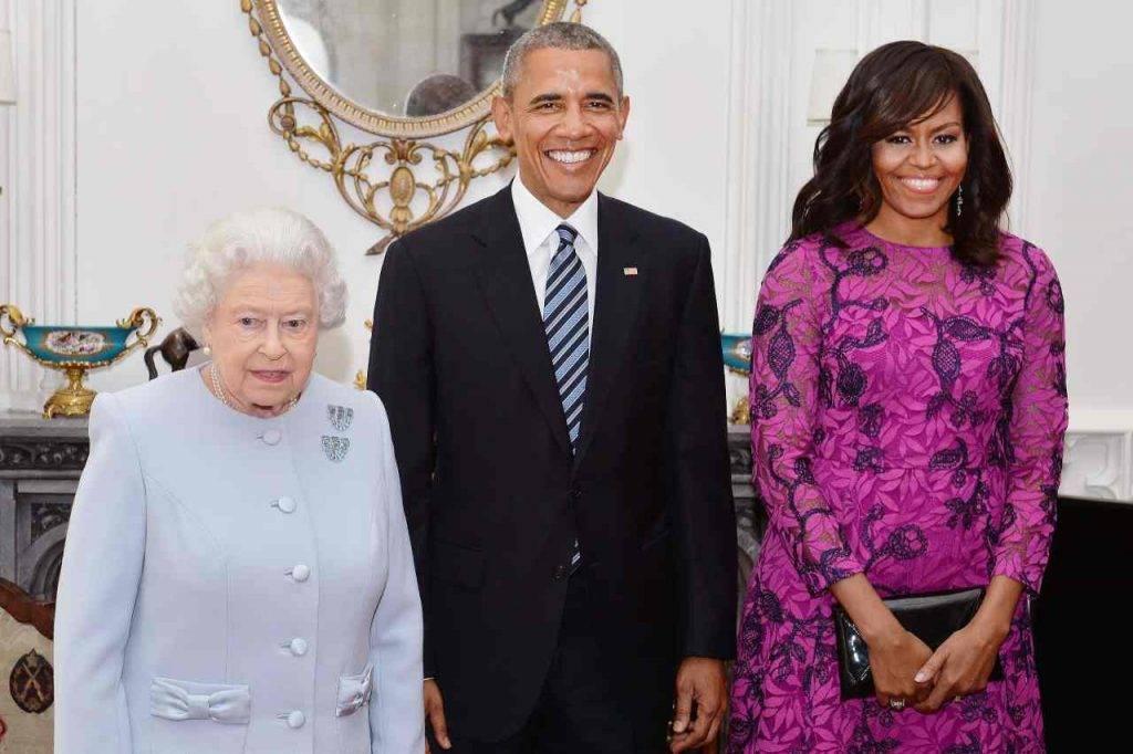 Regina Elisabetta con Michelle e Barack Obama