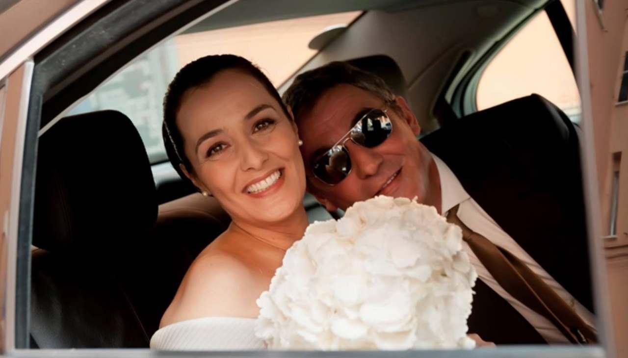 Il secondo matrimonio di Roberta Capua con Stefano Cassoli (foto Chi Magazine).
