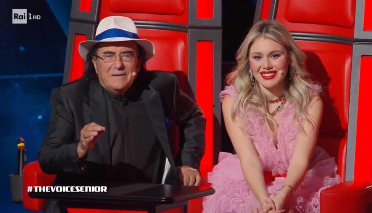 Al Bano e Jasmine Carrisi a The Voice Senior (foto Rai).