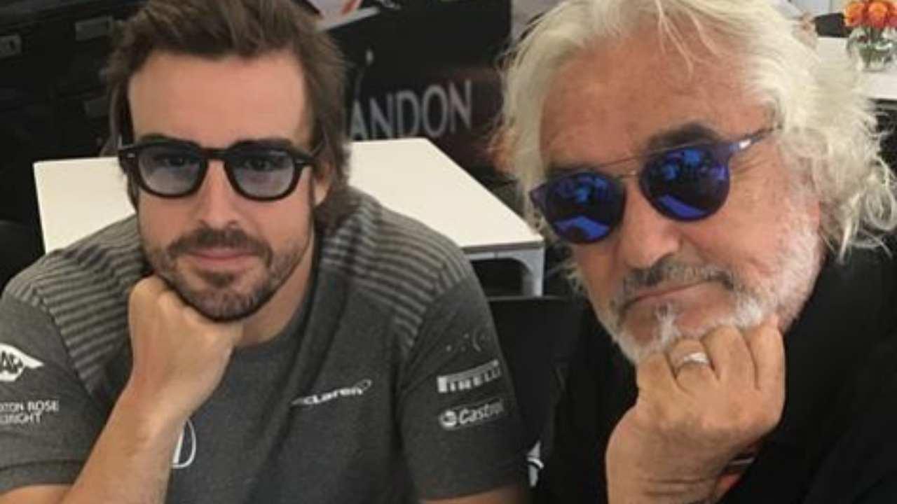 La passione della Formula 1: Flavio Briatore con Fernando Alonso (foto Instagram).