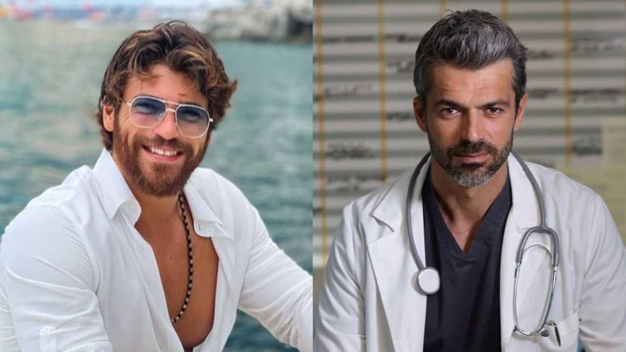 Gli attori Can Yaman e Luca Argentero (foto Instagram).