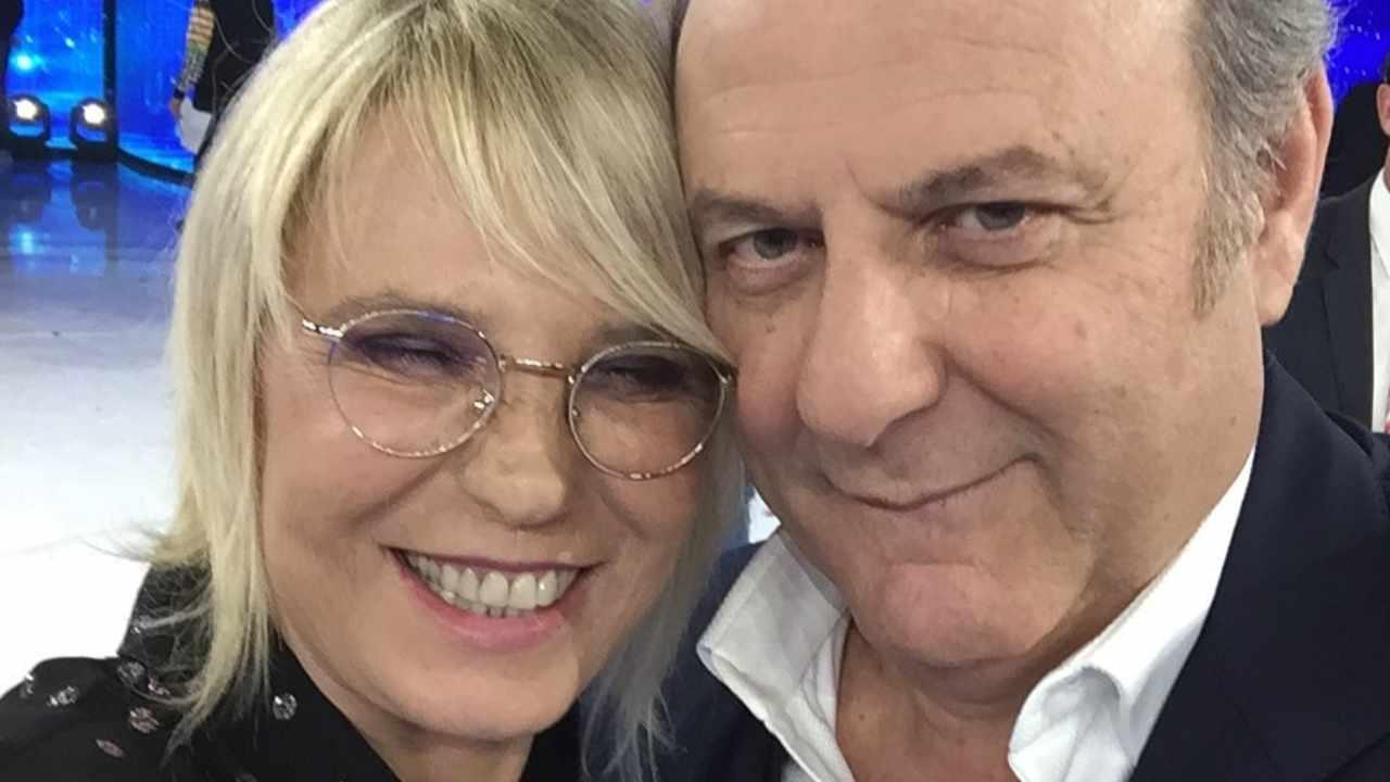 Amici: Gerry Scotti ospite da Maria De Filippi (foto Instagram).