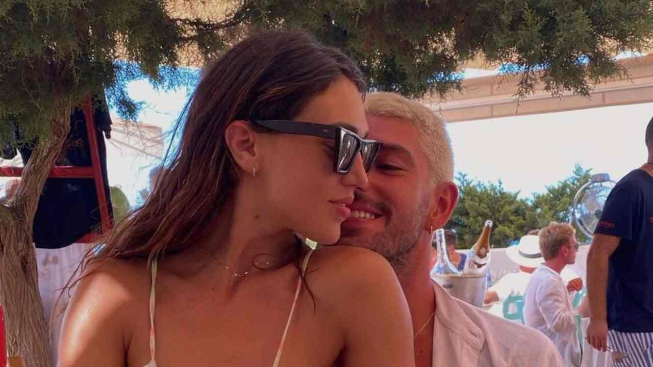 L'amore fra Cecilia Rodriguez e Ignazio Moser durante la vacanza a Formentera (foto Instagram).