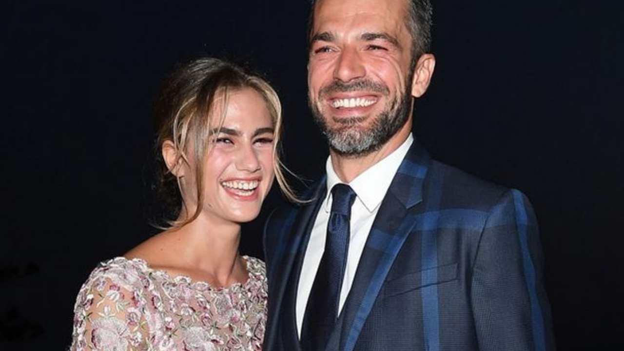 L'attore Luca Argentero con la moglie Cristina Marino (foto Getty Images).