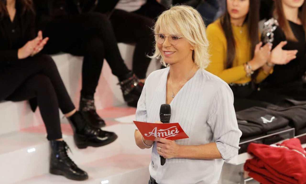 La presentatrice di Amici, Maria De Filippi (foto Mediaset).