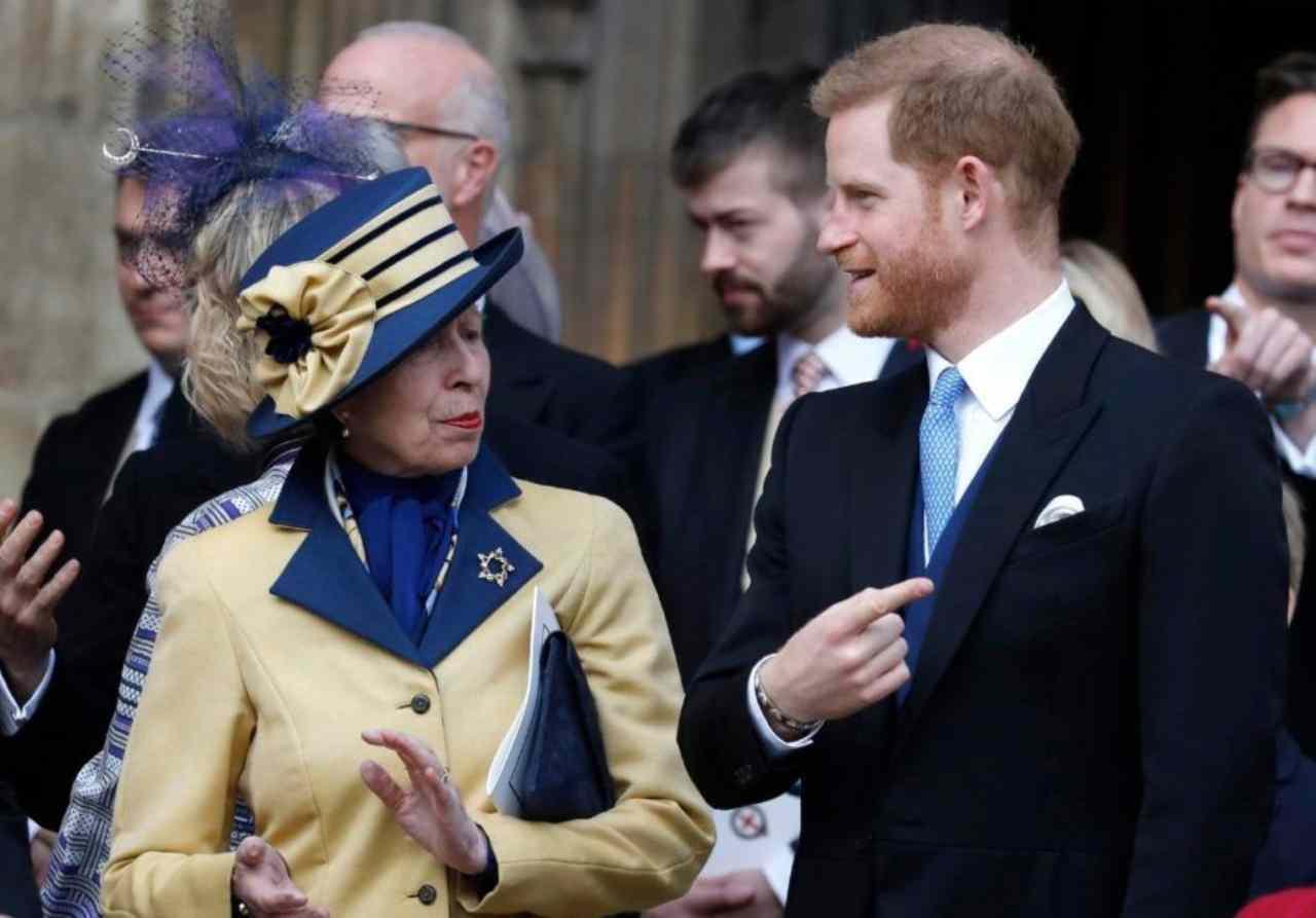 La principessa Anna ed il nipote Harry Windsor (foto Getty Images).