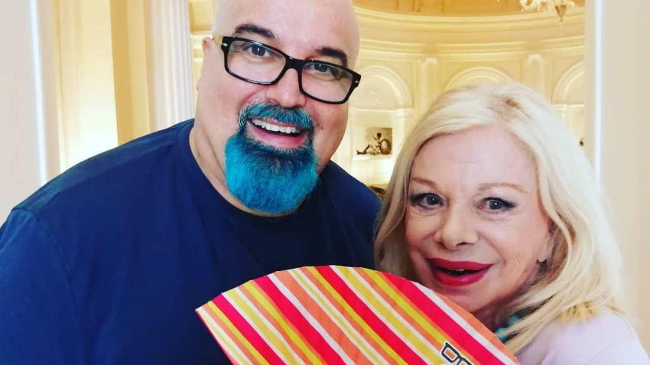 Amicizia: Sandra Milo e Giovanni Ciacci (foto Instagram).