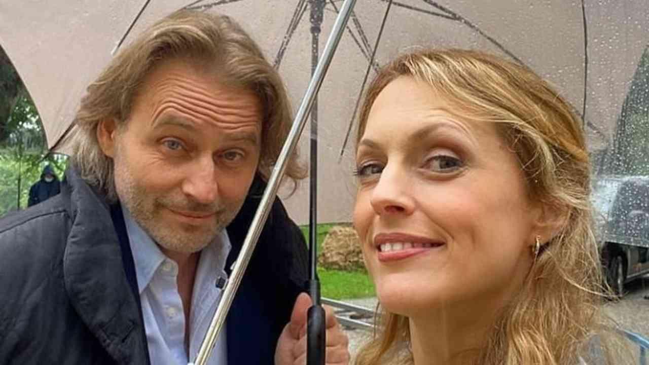 Tempesta D'Amore: Rosalie e Michael sul set delle riprese delle nuove puntate (foto Mediaset).