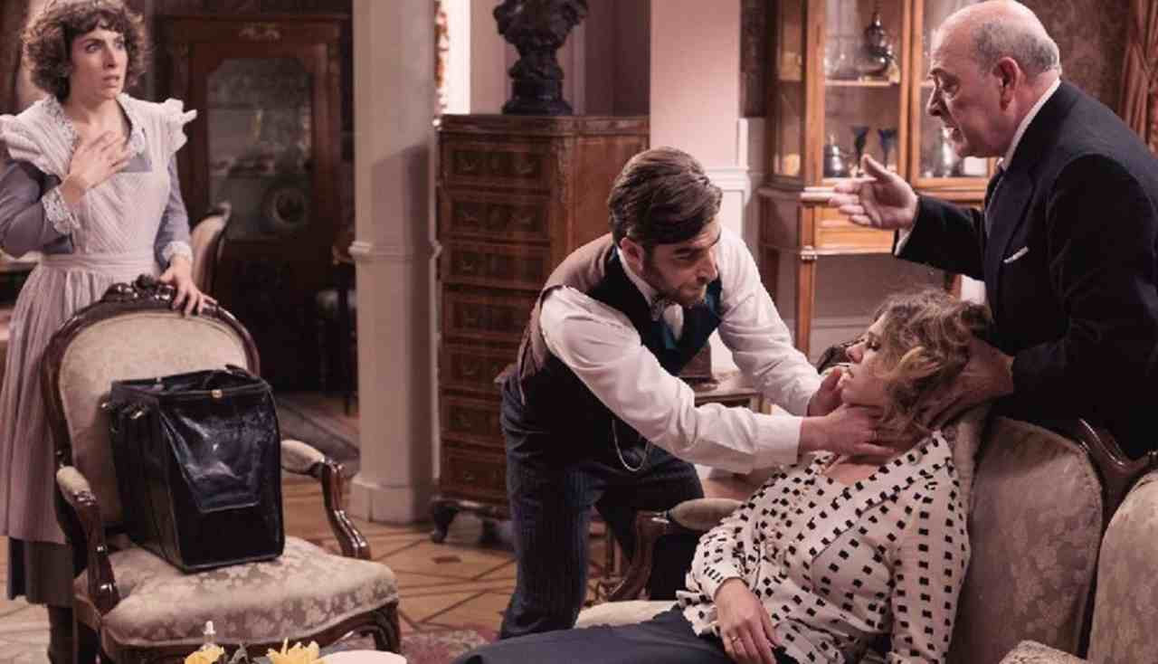 Anticipazioni Una Vita: la scena in cui Genoveva perde il suo bambino (foto Televisión Española).