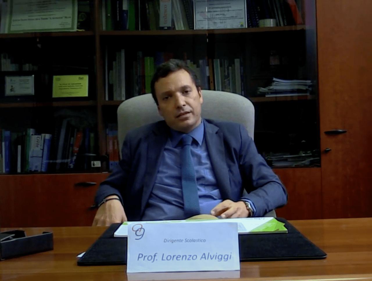 Lorenzo Alviggi, preside dell'ITST Artemisia Gentileschi - Screenshot di Youtube di un video dell'ITST Artemisia Gentileschi