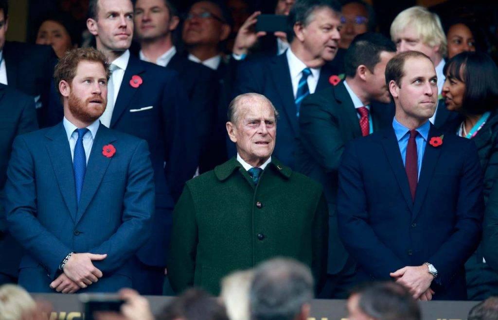 William, Harry e il principe Filippo