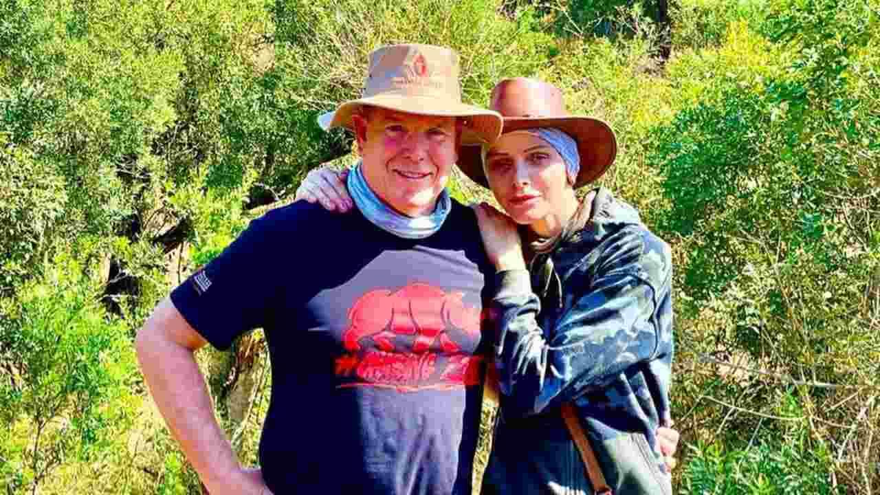 Una delle foto più recenti di Alberto e Charlene di Monaco in Sudafrica (foto Instagram).