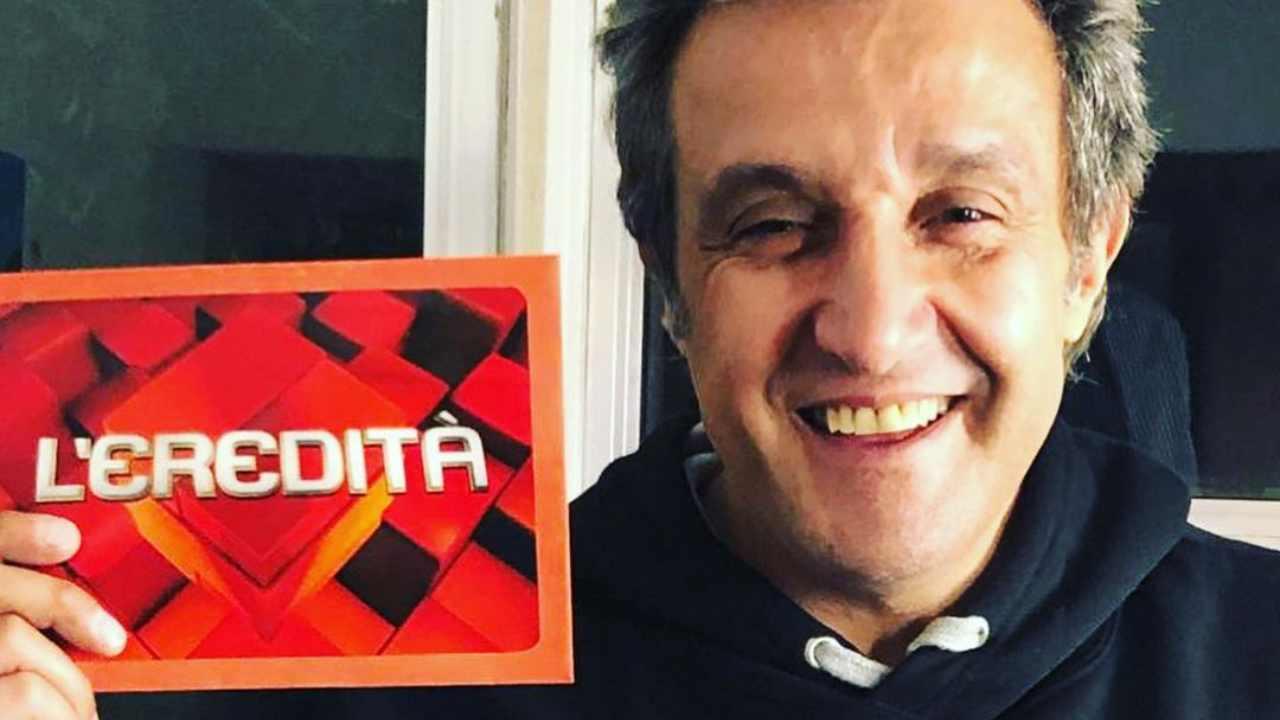 Il conduttore de L'Eredità, Flavio Insinna (foto Instagram).