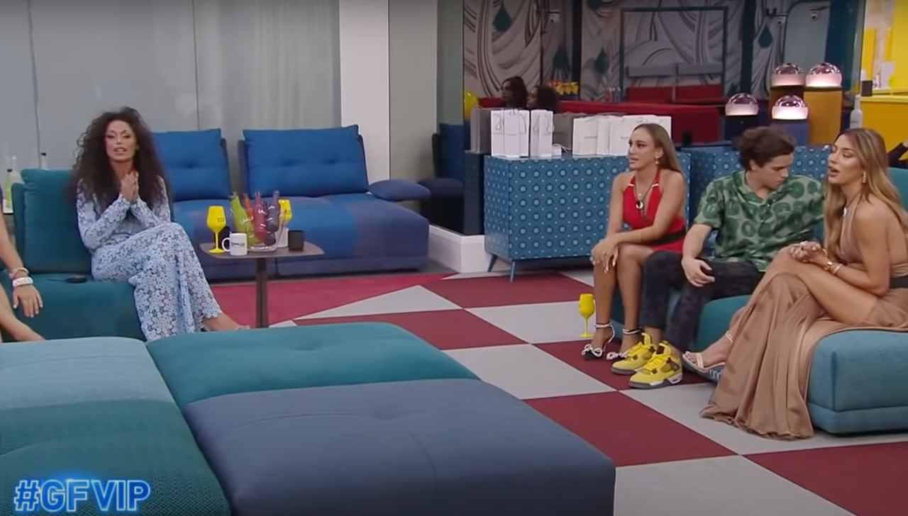 Prima puntata del GF Vip 6: sale la tensione quando Soleil Sorge nomina Raffaella Fico (foto Mediaset).