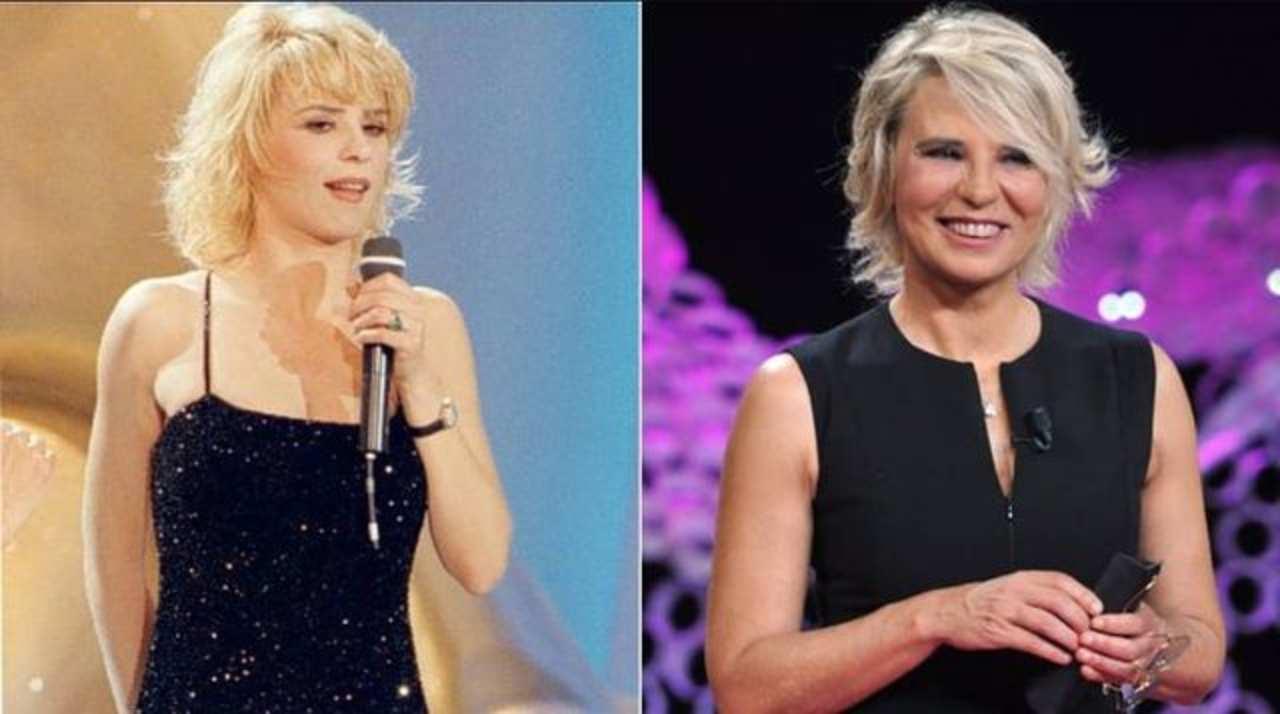 Ieri e oggi: Maria De Filippi all'inizio dell sua carriera televisiva ed un una foto recente (fonte: Instagram).