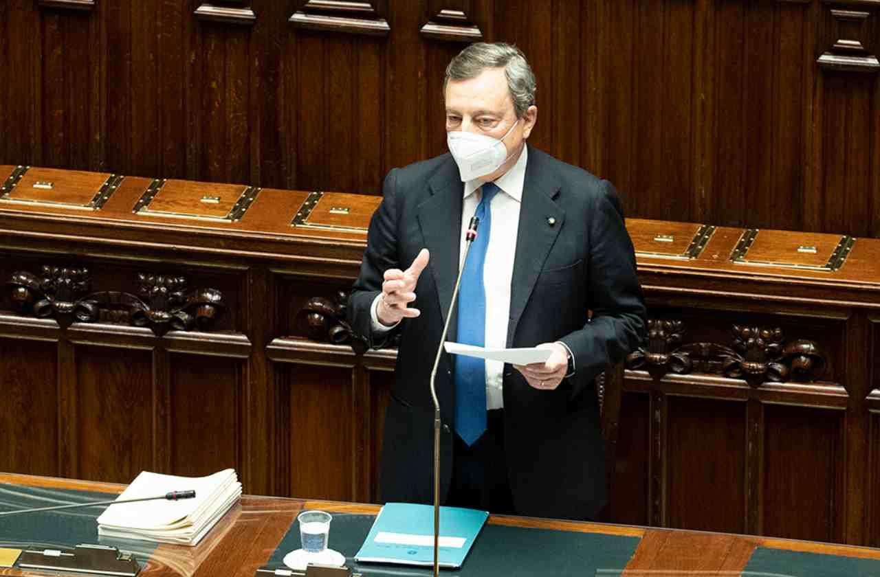Il Presidente del Consiglio Mario Draghi (foto Getty Images).